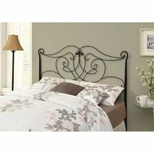 Headboards For Queen and Full Size Beds Footboard Geometric Combo Satin Black