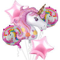 5PC Unicorn Foil Balloons Baby Shower Birthday Party Decoration Helium Balloon