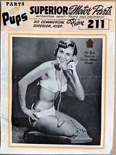 PARTS PUPS Magazine Pin-Up, Jokes, Comics SUPERIOR MOTOR PARTS Nebraska MAY 1958