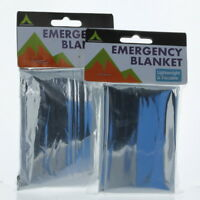 7Ft Lightweight emergency Blanket Lot of 2 Survival Gear Cold Weather