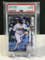 Gavin Lux Topps 2020 RC PSA 10 #292 Series One Rookie Card LA Dodgers baseball