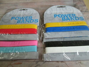 Pack of 8 x Kids Power Wristbands With Message on Each One