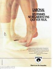 PUBLICITE ADVERTISING 086 1984  les chaussettes homme Labonal