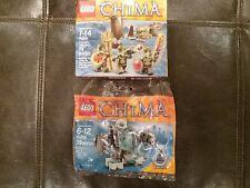 Lego Chima Set #70231 Crocodile Tribe Pack, #30256 Iceklaw, Factory Sealed