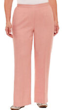 Alfred Dunner Botanical Gardens Womens Classic Fit Linen Pull On Blush Pants $48