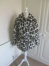 VGC 2019 SOLD OUT TOPSHOP CREAM & BROWN LEOPARD PRINT BORG TEDDY JACKET SIZE 14