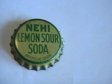 BOTTLE CAP NEHI LEMON SOUR SODA CORK LINED UNUSED