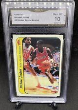 1986 Fleer #8 Michael Jordan RC Rookie RP GMA10 MT