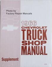 1966 Chevy Truck Suburban Van Factory Shop Service Repair Manual Supplement