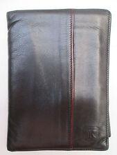 -AUTHENTIQUE portefeuille/porte-chéquier K cuir TBEG vintage 70's