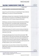 HMS RAMSEY. Vosper Thorneycroft (UK) Ltd shipbuilders. 2000 Press Release.  zi51