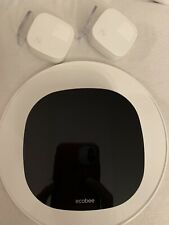 ecobee3 lite Smart Thermostat - Black (Eb-State3Lt-02) With 2 Room Sensors
