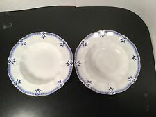 "Royal Crown Derby - Grenville - Rimmed Soup Bowls - TWO - 2 - 8 1/2""  Bone China"
