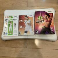 Nintendo Wii Fit Plus Balance Board (3)Games Bundle Lot Zumba Fitness Active