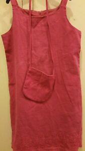 Victoria Rose designer Girls linen/cotton dress 5 and matching bag