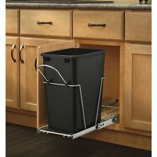 Pull Out Trash Can Container Bin Cabinet Shelf Plastic Waste Garbage Kitchen Rev