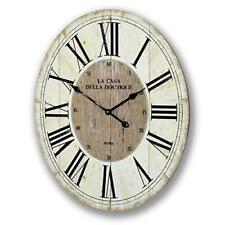 "Huge Vintage Style Oval Wall Clock 80 cm (32"") High - French Shabby Chic Style"