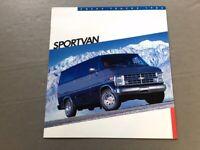 1986 Chevrolet Chevy Sportvan Van Original Sales Brochure Catalog