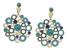 Mode-Ohrschmuck aus gemischten Metallen Türkis-Hauptstein für Damen