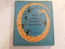 Five Little Monkeys Juliet Kepes 1965 Houghton Mifflin library discard