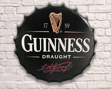 40cm Guinness Vintage Retro Wall Display Sign Metal Bottle Top Beer Guiness new