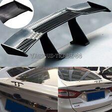 "6.7"" Black Mini Carbon Fiber Car Spoiler Rear Tail Wing Trunk Auto Decor Sticker"