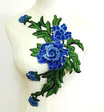 """8/""""x2.75/"""" Floral Embroidered Motif Applique  Yellow Red Black Burgundy Royal Blue"""