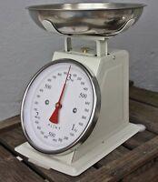 PLINT Waage Küchenwaage RETRO KITCHEN SCALE beige NEU 3kg creme Metall