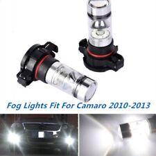 Pair 100W Fog Lights For Chevy Camaro 2010 2011 2012 2013 6000K White LED Bulbs