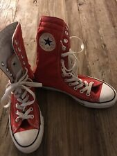 Womens Tall High Top Converse Size 7 Red