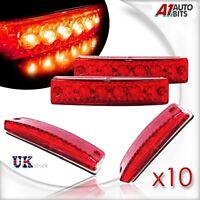 10X 24V LED Red Front Side Marker Light Position 24 V Cab Truck Trailer Lorry