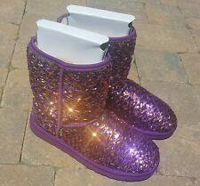 UGG Australia sparkle reversible Sequin boot women's 10 purple