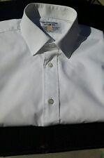 Vintage VAN HEUSEN 100 Plain MENS Cotton SHIRT 15 INCH COLLAR