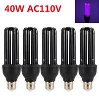 UV 40W V Ultraviolet Blacklight Low Energy CFL Light Bulb,E27, Screw Lamp