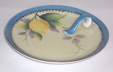 Vtg Noritake M China Lemon Dish w/Handle,Hand Painted Lemon Branch, Gilt / Trim