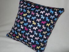 """**SCOTTIE DOG CUSHION HANDCRAFTED BY THE SELLER 100% Cotton poplin 14"""""""