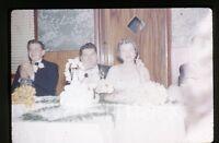 1959 kodachrome Photo slide  Wedding Party   cake #2  cigarette