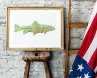 Adirondack Mountains Map • Brook Trout • Fishing • Upstate NY • ADK • High Peaks
