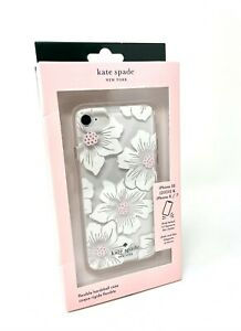 Kate Spade New York Case for iPhone 8 iPhone 7 iPhone SE 2nd Gen Hollyhock Clear