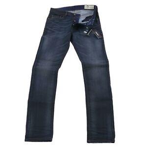 DIESEL Herren Stretch Denim Jeans Hose TEPPHAR Dunkelblau R8AC2 2. Wahl Gr 30/32