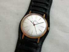 LUCH (Vimpel) Ultra Slim Vintage 1980's USSR Russian Gold Men's Watch SERVICED