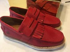 Jump Red Mens Loafers Size 7.5