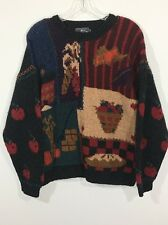 Woolrich Vintage Women's Wool Farm Autumn Harvest Pullover Sweater Women's L