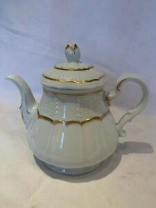 HEINRICH/VILLEROY&BOCH PORZELLAN Kanne 1 Liter Kaffee/Tee Flammgold