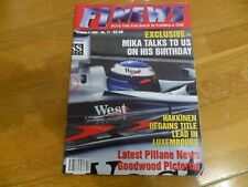 F1 NEWS  FORMULA ONE RACING MAGAZINE #17 OCT 1998  MIKA HAKKINEN GOODWOOD PICS