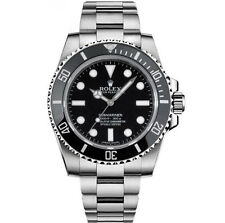 New 2017 Rolex Submariner No Date 114060 Ceramic 40mm Box Papers 5 Year Warranty