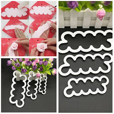 3pcs 3D Rose Petal Flower Cutter Fondant Cake Sugarcraft Decorating Mould Set