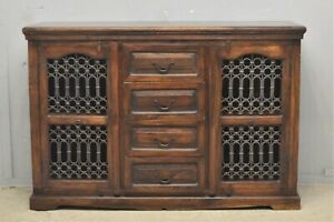 Sideboard cabinet Indian sheesham jali solid hard wood delivery available