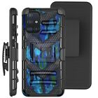 Holster Case For SAMSUNG GALAXY A51 4G (2020) Phone Cover - BLUE CAMO BADGE