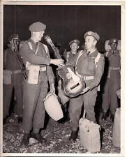 Canadian Special Armed Force Privates Exchange Guitar US Army Photo FT LEWIS WA